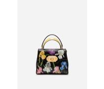 Handtasche Welcome aus Palmellato-Kalbsleder mit Iris-Print