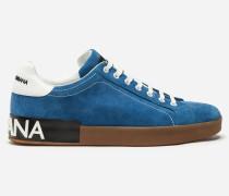 Sneaker Portofino aus Veloursleder und Kalbsleder
