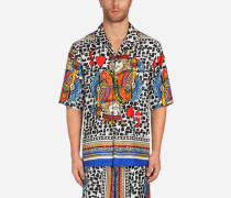 Pyjamahemd aus Bedruckter Seide