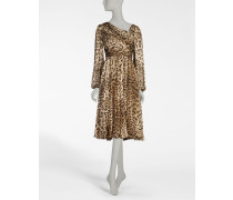 Chiffon-Kleid aus Bedruckter Seide