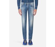Stretch-Jeans mit Skinny-Fit