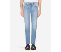 Skinny Stretch Jeans Hellblau