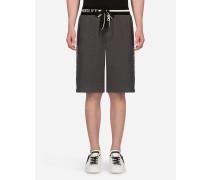 Joggingbermuda-Shorts aus Baumwolle