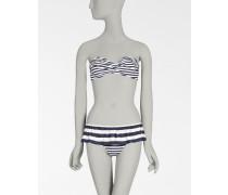 Bedruckter Bikini mit Volant AUF DER Bikini-Hose