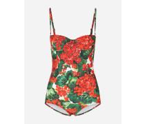 Balconette-Badeanzug mit Portofino-Print