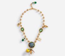 Halskette mit Dekoelementen