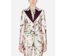 Shantung-Jacke mit Lilien-Print