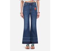 Jeans Flare Fit aus Denim-Stretch
