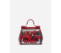 Mittelgrosse Sicily Tasche aus Kalbsleder Portofino-Print