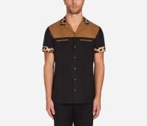 Zweifarbiges Hemd mit Capri Fit