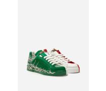 Sneaker Portofino aus Leder in Drei Farben