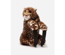 Rucksack aus Leoparden-Webpelz