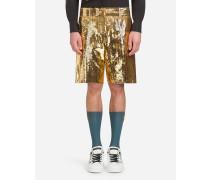 Bermuda-Shorts mit Pailletten