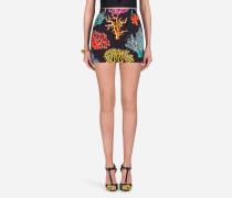 Bedruckte Shorts aus Baumwolldrill