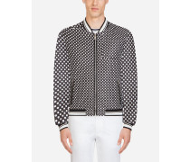 Jacke aus Bedrucktem Nylon