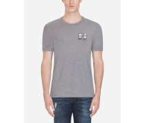 T-Shirt aus Baumwolle mit Patch DG Family