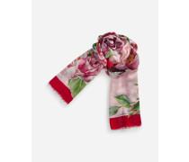 Bedruckter Schal aus Modal und Kaschmir 135 x 200