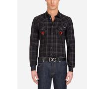 Cow-Boy-Hemd aus Baumwolle mit Patch