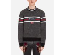 Pullover aus Wollmischung mit Patch