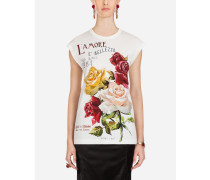 Ärmelloses T-Shirt aus Baumwolle