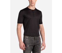 Serafino-T-Shirt aus Seide
