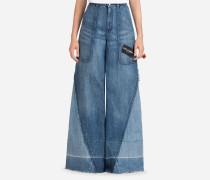 Jeans Fit mit Hohem Bund aus Denim