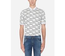 Poloshirt aus Bedrucktem Baumwollpikee