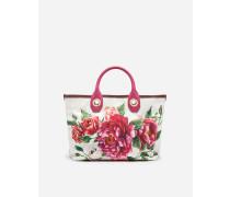 Kleine Shoppingtasche Capri aus Bedrucktem Canvas