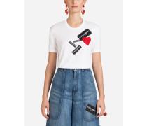 T-Shirt aus Baumwolle mit Patch