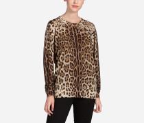 Pullover aus Bedruckter Wolle