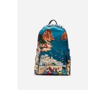 Rucksack Vulcano aus Bedrucktem Nylon