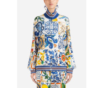 Sweatshirt aus Cady mit Majolika-Print