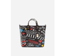 Shoppingtasche Beatrice aus Kalbsleder mit Muralesprint