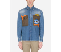 Denim-Shirt mit Patch
