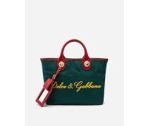 Shopper Tasche Capri aus Canvas mit Logo-Stickerei