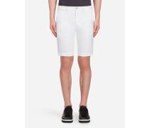 Bermuda-Shorts aus Baumwolle mit Stretch