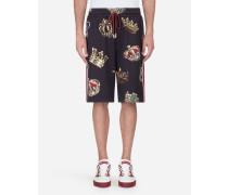 Joggingbermuda-Shorts aus Bedruckter Baumwolle