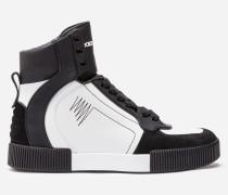 High-Top-Sneaker aus Leder