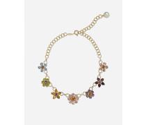 Halskette MIT Dekorativen Blumenelementen