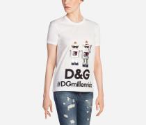 T-Shirt aus Bedruckter Baumwolle