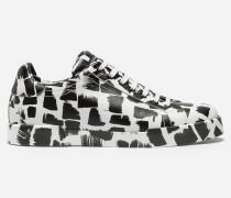 Sneaker Portofiino aus Bedrucktem Kalbsleder