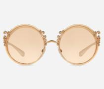 Sonnenbrille aus Metall mit Barocken Verzierungen