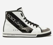 High-Top-Sneaker Roma aus Beschichtetem Stoff und Kalbsleder
