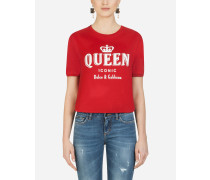 T-Shirt mit Print Queen Iconic