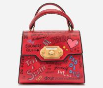 Welcome Handtasche aus Kalbsleder mit Murales-Print