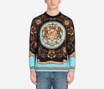 Sweatshirt mit Rundhalsausschnitt mit Foulard-Print