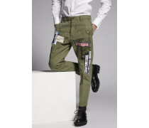 Cotton Chino Hockney Pants With Patch Details