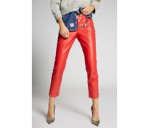 Zip Pockets Cool Girl Leather Pants