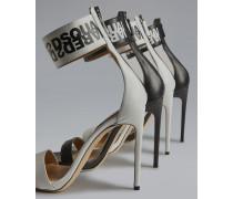 Sandalen mit Absatz Weiß