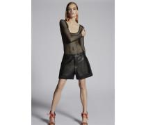 Marsha Inside-Out Leather Shorts
